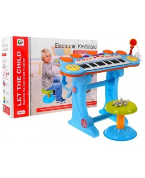 Elektronické  klávesy s MP3 a USB modré